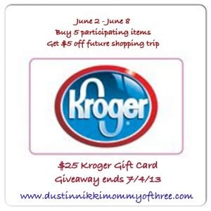 Justice Gift Cards At Kroger - our 25 kroger gift card giveaway winner giveaways winner 171 dustinnikki mommy of three