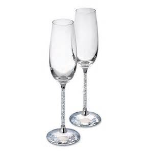 party glasses swarovski crystal pair of swarovski crystal filled stem champagne flutes