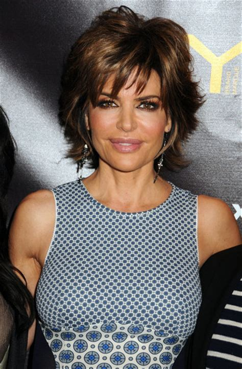 female ceo hairstyles lisa rinna sporting a short hairstyle with hair that