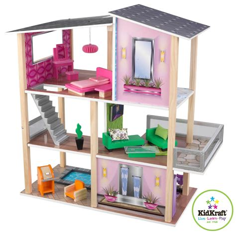 liv doll house kidkraft modern living dollhouse 65822