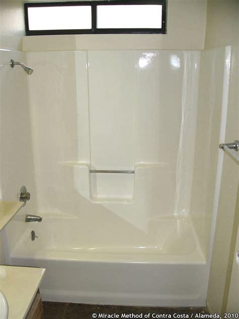 miracle method bathtub refinishing reviews fiberglass tub shower unit in gloss white yelp