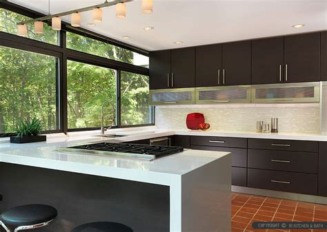 contemporary backsplash ideas for kitchens modern espresso kitchen marble glass backsplash tile
