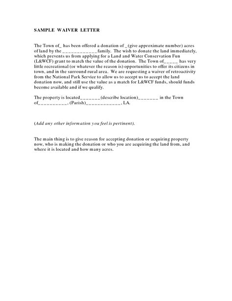 Hardship Letter For Hoa Fees Waiver Sle Coloring Pages Sle Waiver Form Documents Activities