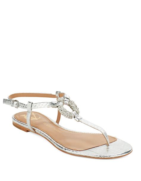 sandals signature lyst vince camuto signature bolda sandals in metallic