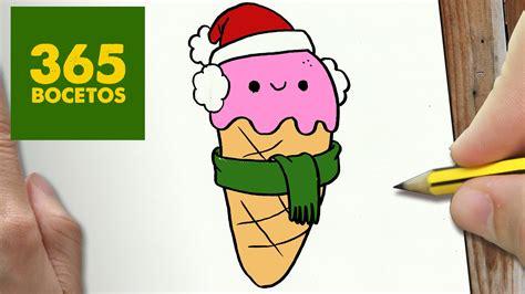 imagenes de helados kawaii para dibujar como dibujar helado para navidad paso a paso dibujos