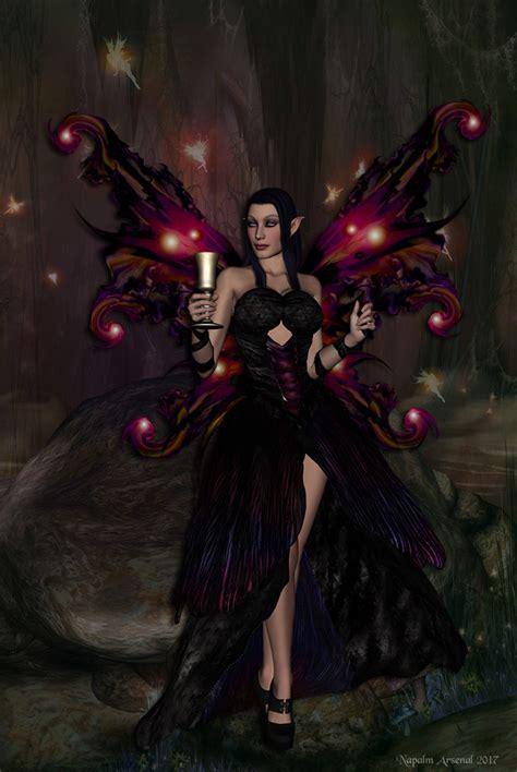 morgane le fay le fay by napalmarsenal mixed medium faeries