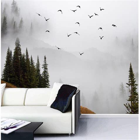 misty mountains wall mural home decor walls 3d wallpaper custom 3d photo wallpaper misty mountains