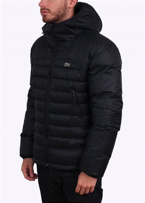 Padded Hooded Jacket lacoste padded hooded jacket black