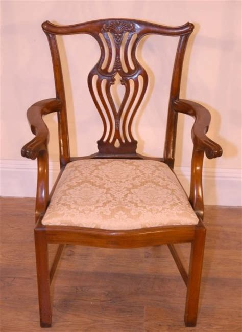 set 10 chippendale dining chairs harp backs for