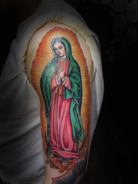 virgin mary back tattoo colorful yelp