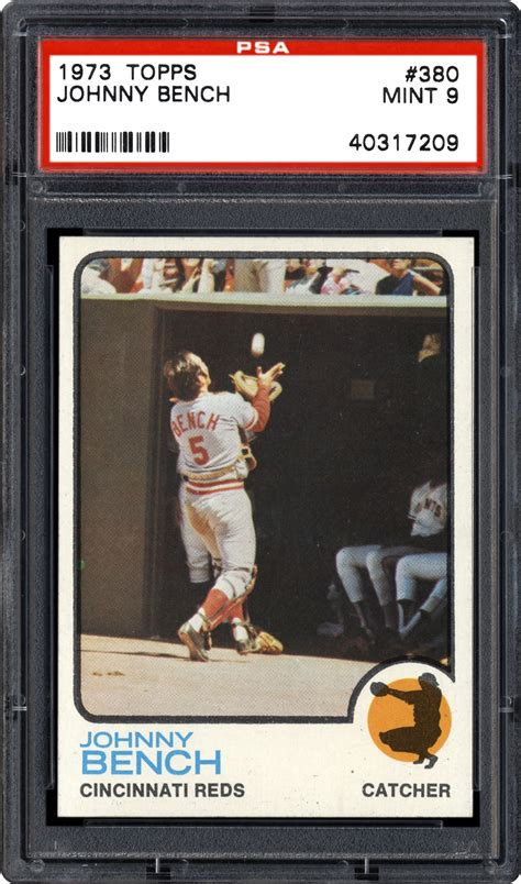 johnny bench card value 1973 topps johnny bench psa cardfacts