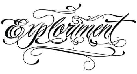 cursive tattoo fonts for men piel script font tattoomagz