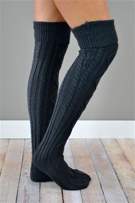 boot socks pattern knit charcoal thick cable knit boot socks bootcuffsocks com