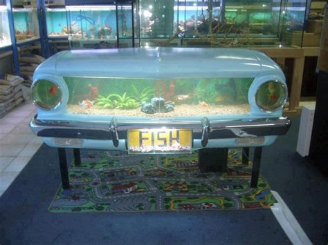 falcon turned into an amazing fish tank upcycle car