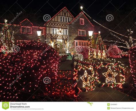 well decorated homes well decorated christmas home royalty free stock
