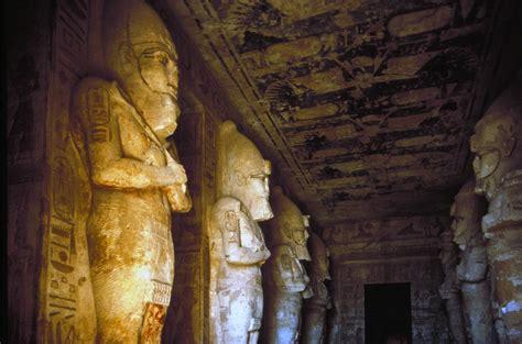 Ancient Interior by Abu Simbel Nubia Interrior Of Temple Of Ramses Ii