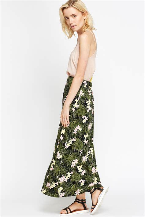 Maxi Flower Leaf Yellow floral leaf maxi skirt just 163 5