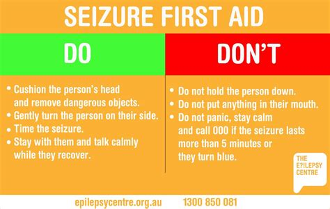 seizures what to do the epilepsy centre what to do during a seizure