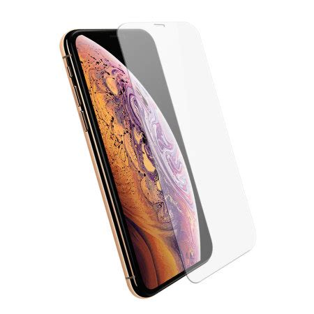 olixar iphone xs max compatible tempered glass screen protector