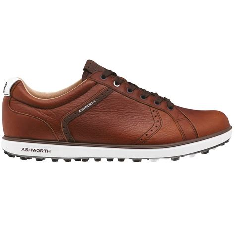 ashworth golf shoes ashworth 2016 cardiff 2 adc leather spikeless mens golf