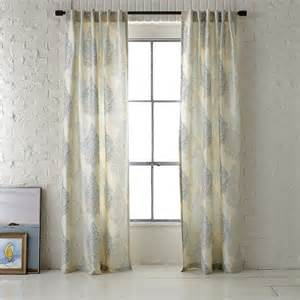 Contemporary Window Curtains Ambi Printed Window Panel Contemporary Curtains By