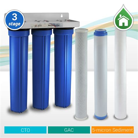 Paket Filter Air 3 Tahap Sediment Gac Cto Eugen Clear 1 4 3 Stage 20 Quot X 2 5 Quot Whole House Water Filter Sediment Carbon Gac Cto