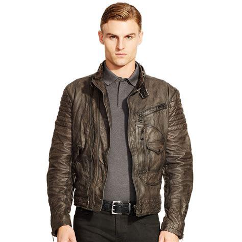 Cc034 Size M Black Blazer Formal Luaran Outerwear Fashion Wanita ralph black label engine leather biker jacket in brown for lyst