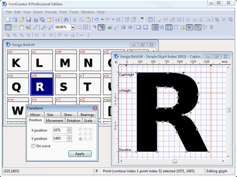 typography editor ttf font editor software free