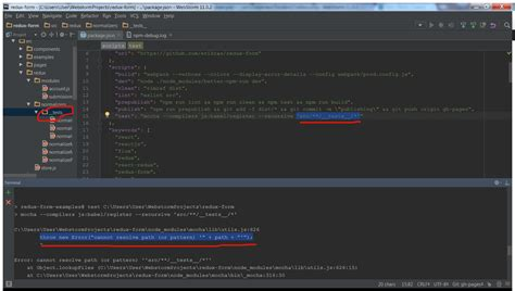 pattern matching babel terminal why can t mocha resolve this path or pattern