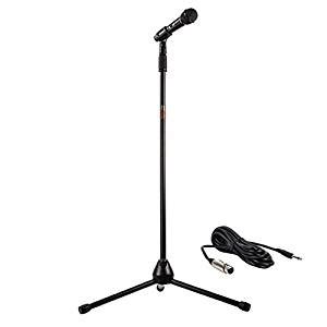 nady msc 3 center stage microphone with sturdy metal adjustable tripod microphone