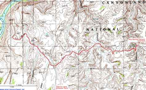 topographical map of utah topographic map of the confluence overlook trail