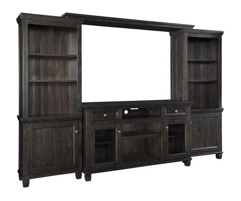 ashley furniture townser grayish brown entertainment center  classy home