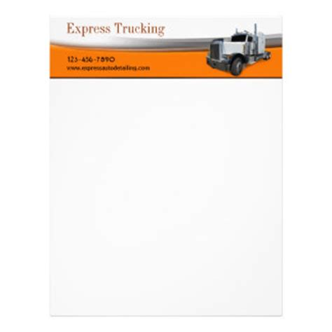Trucking Company Letterhead Templates trucking letterhead custom trucking letterhead templates