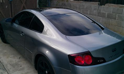 tail light tint near me dark grey tinted tail lights and black rims g35 coupe