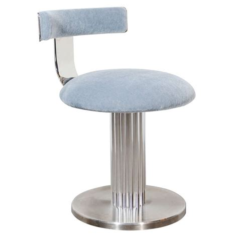 Swivel Vanity Stool Modernist Klismos Back Swivel Vanity Stool At 1stdibs