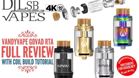 vape ape tutorial vandyvape govad rta review with coil build tutorial
