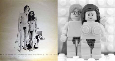 john lennon and yoko ono unfinished music no 1 two classic album covers get the lego treatment shortlist