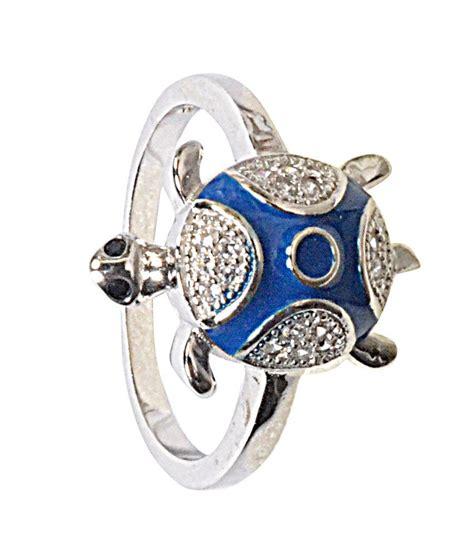 navkaar creation tortoise ring in 925 sterling silver cz
