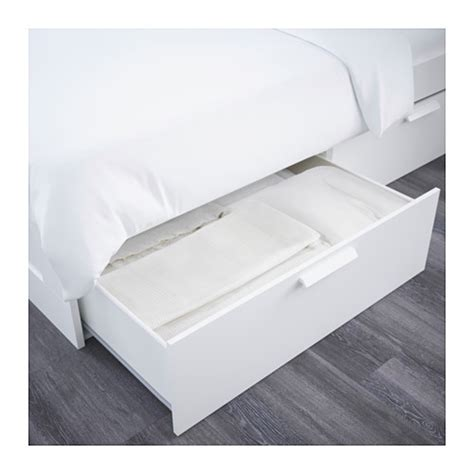 ikea double four poster bed frame and mattress in brimnes bed frame w storage and headboard white leirsund