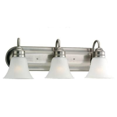brushed nickel bathroom lighting fixtures sea gull lighting gladstone 3 light antique brushed nickel