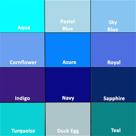 different color blues introducing the colour blue into your home