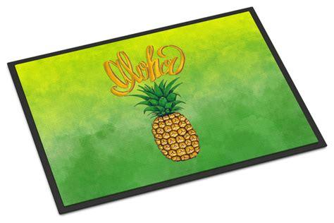 Tropical Outdoor Doormats by Aloha Pineapple Welcome Indoor Or Outdoor Mat 24x36