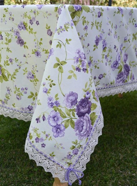 Handmade Tablecloths - handmade tablecloth pansy theme tablecloths napkins