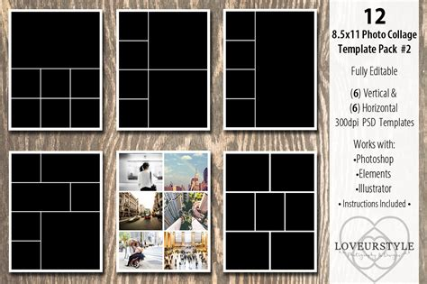 8 5x 11 business card template psd 13 designs for your photo album editable psd in design