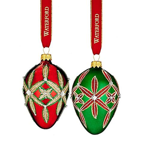 waterford mini heirloom ornaments waterford 174 heirlooms nostalgic lismore egg ornaments set of 2 bed bath