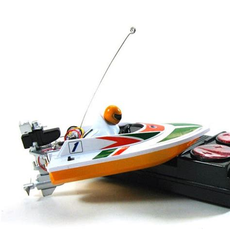 mini rc boat mini micro rc speed boat white