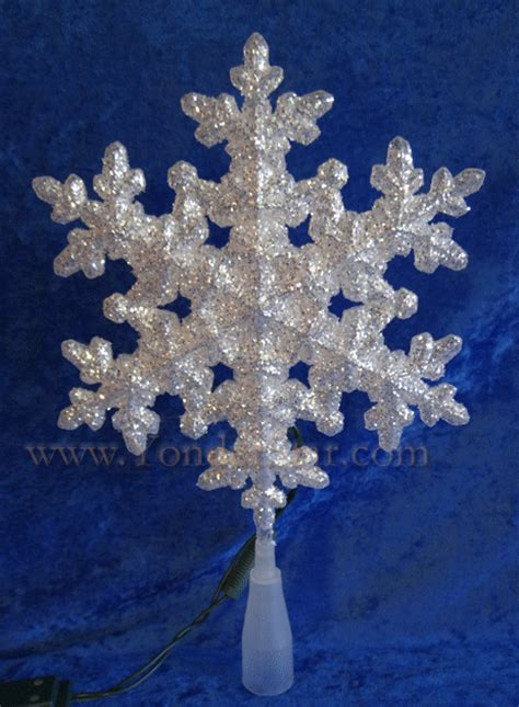 snowflake christmas tree topper led lights