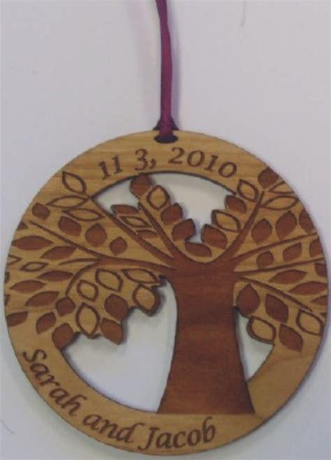 unique personalized ornaments wood wedding ornament
