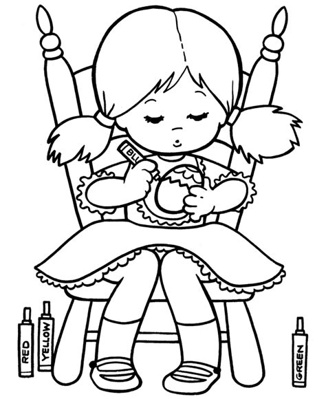 coloring page of little girl little girl coloring pages az coloring pages