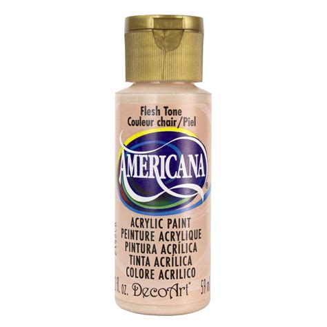 decoart americana 2 oz flesh tone acrylic paint dao78 3 the home depot